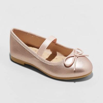 Toddler Girls' Becca American Girl Slip-On Ballet Flats - Cat & Jack™ Rose Gold 6
