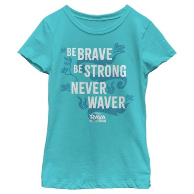 Girl's Raya and the Last Dragon Be Brave Design T-Shirt