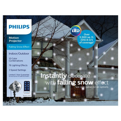 Philips Multicolored Led Falling Snowflake Projector With Remote