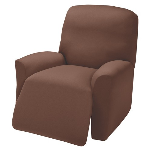 Brown Jersey Large Recliner Slipcover - Madison Industries