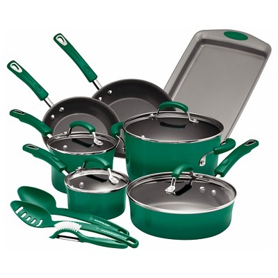 Rachael Ray Cookware Set 14 Piece Fennel