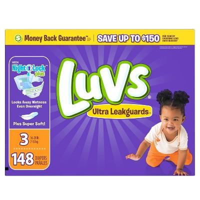Luvs Diapers, Value Pack - Size 3 (148 ct)