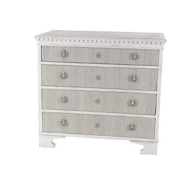Farmhouse 4 Drawer Pine Dresser White - Olivia & May