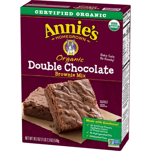 Annie's Organic Double Chocolate Brownie Mix - 18.3oz - image 1 of 3