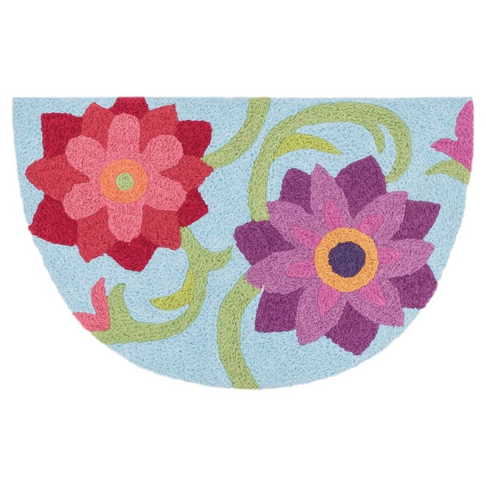 "Image of ""Loloi Angelou Accent Rug - Blue (1'8""""X2'8"""")"""