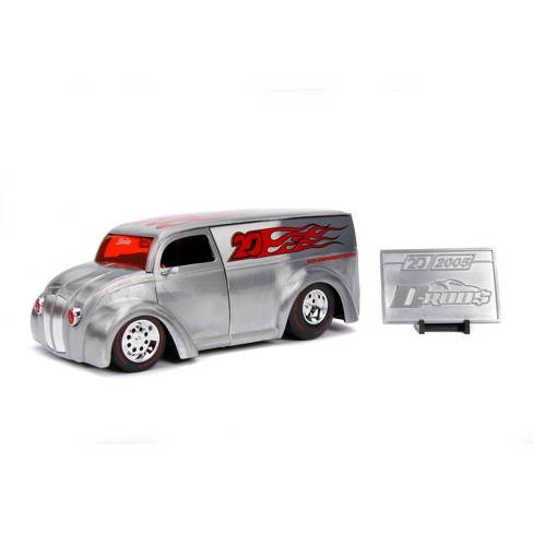 Jada Toys 20th Anniversary D-Rod$ Div Cruizer Die-Cast Vehicle with Mosiac Die-Cast Tile 1:24 Scale Brush Raw Metal - image 1 of 4