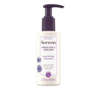Facial Cleanser: Aveeno Absolutely Ageless Nourishing Cleanser