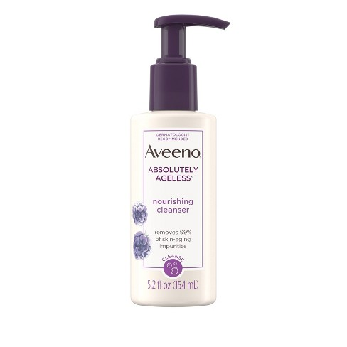 Aveeno® Absolutely Ageless™ Facial Nourishing Anti-Aging Cleanser - 5.2 fl oz - image 1 of 9