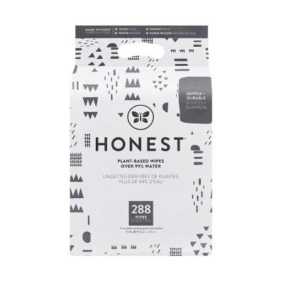 The Honest Company Printed Pattern Play Baby Wipes - 288ct