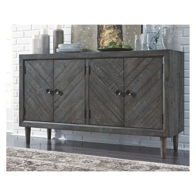 Elegant Besteneer Dining Room Server Dark Gray   Signature Design By Ashley : Target