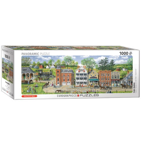 Train Station by Bob Fair 1000pc Pano Puzzle - image 1 of 1