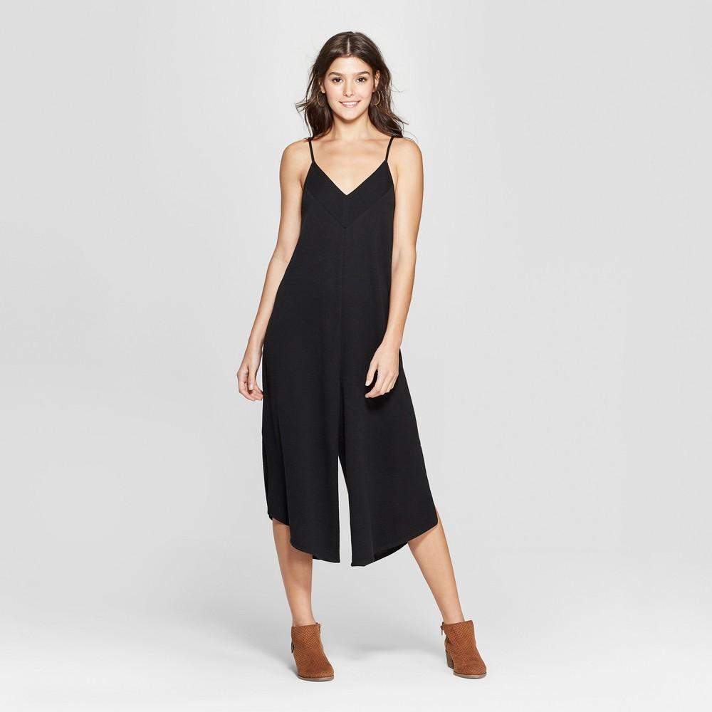 Women's Strappy Knit Waistless Jumpsuit - Xhilaration Black L