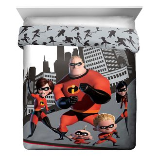 Incredibles 2 Singe Twin Comforter Gray/Red