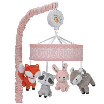 Lambs & Ivy Little Woodland Musical Mobile - Pink