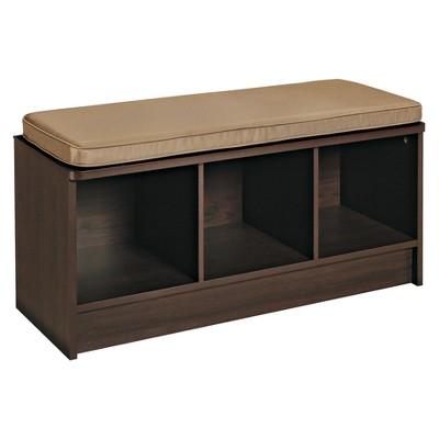 ClosetMaid Cubeicals 3 Cube Storage Bench   Espresso
