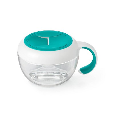 OXO TOT Flippy Snack Cup with Cover - Teal