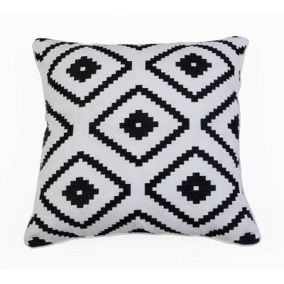 Décor Therapy 18 X18 Allister Aztec Embroidered Throw Pillow Black White Target