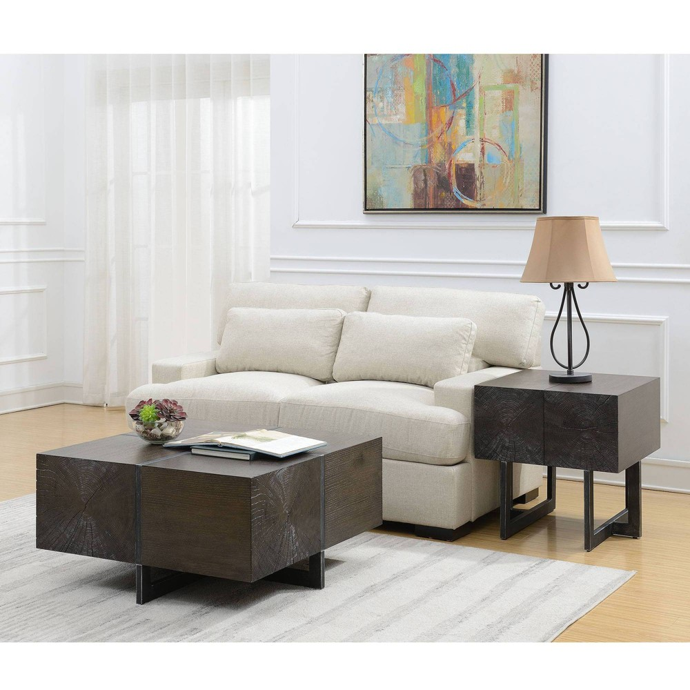 Image of 2pc Elliot Occasional Table Set Cherry - Picket House Furnishings