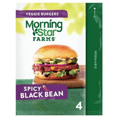 Morningstar Farms Spicy Black Bean Veggie Burgers - Frozen - 9.5oz/4ct