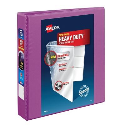 """Avery 400 Sheet 1.5"""" One Touch EZD Heavy-Duty Ring Binder Purple"""