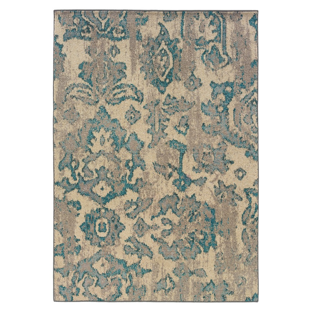 4'X6' Shapes Area Rug Beige