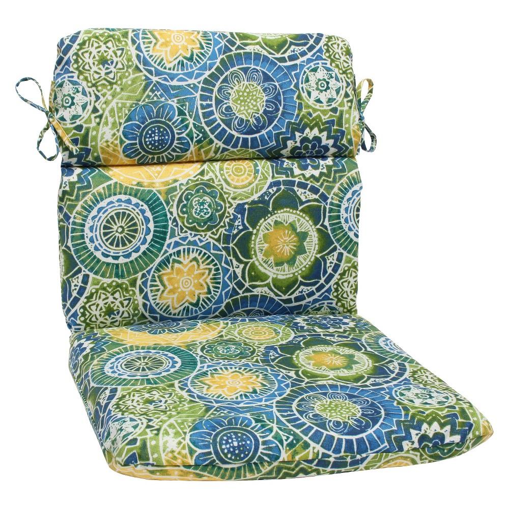 Pillow Perfect Outdoor Round Edge Full Seat Cushion Omnia