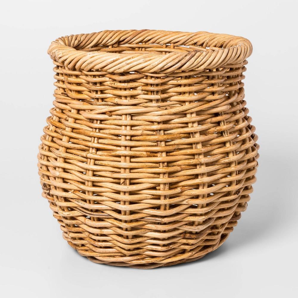 "Image of ""13.4"""" x 13.4"""" Rattan Basket Natural - Threshold , Brown"""