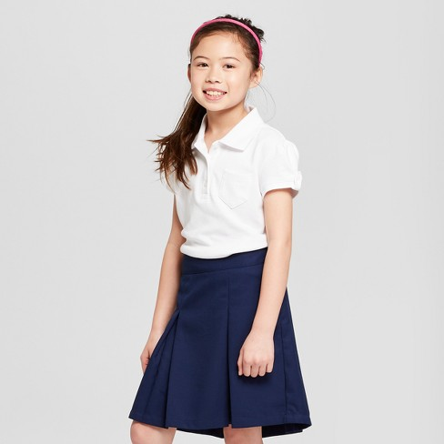 Girls' Short Sleeve Interlock Uniform Polo Shirt - Cat & Jack™ - image 1 of 3