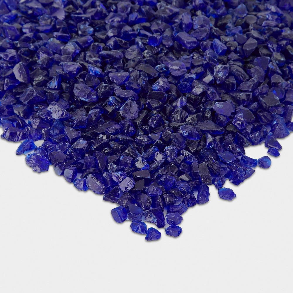 Image of 20lb Fire Glass Reflective Chips Cobalt Blue - Real Flame, Blue Blue