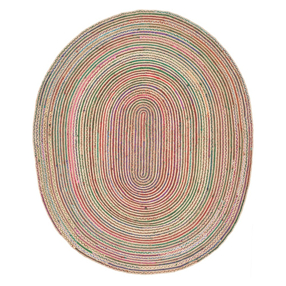 8'X10' Stripe Area Rug - Safavieh, White