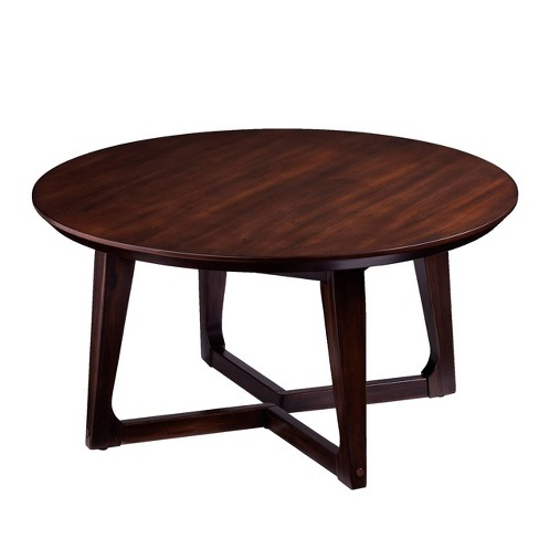 Meckland Round Cocktail Table Dark Walnut - Holly & Martin - image 1 of 4