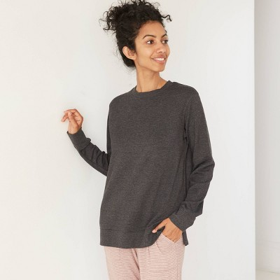 Women's Beautifully Soft Fleece Lounge Tunic Sweatshirt - Stars Above™ Charcoal XL
