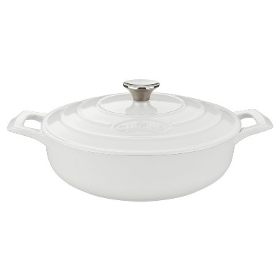 La Cuisine LC 3180MB PRO Saute 3.75 Qt. Cast Iron Casserole - White