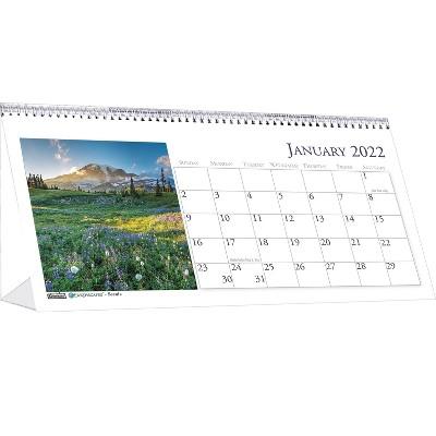 "House of Doolittle 2022 4.5"" x 8.5"" Desk Calendar Earthscapes Scenic Multicolor 3649-22"