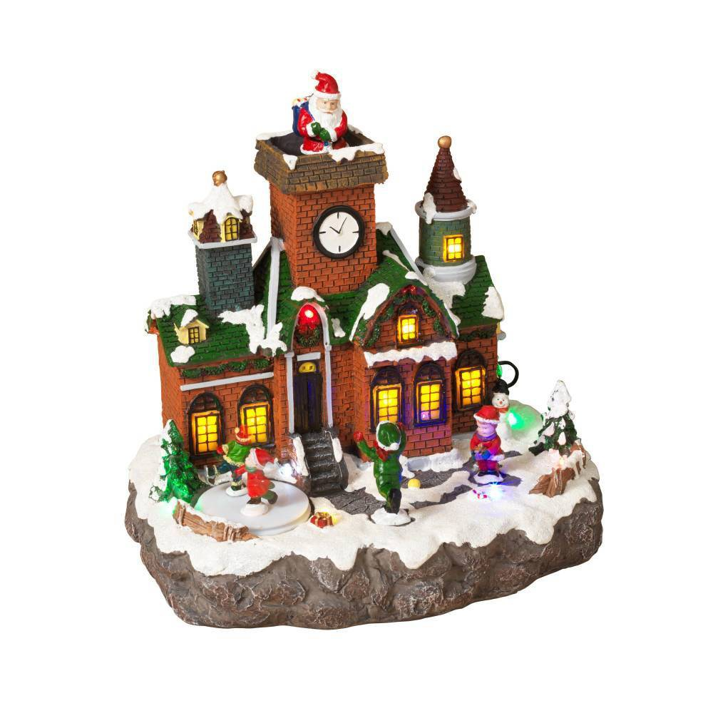 "Image of ""10.2"""" Lit Holiday Village Decorative Figurine - Gerson International"""