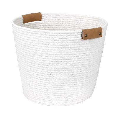 Decorative Coiled Rope Floor Basket White - Threshold™