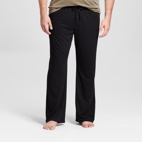 Men's Big & Tall Knit Pajama Pants - Goodfellow & Co™ Black 2XBT - image 1 of 4
