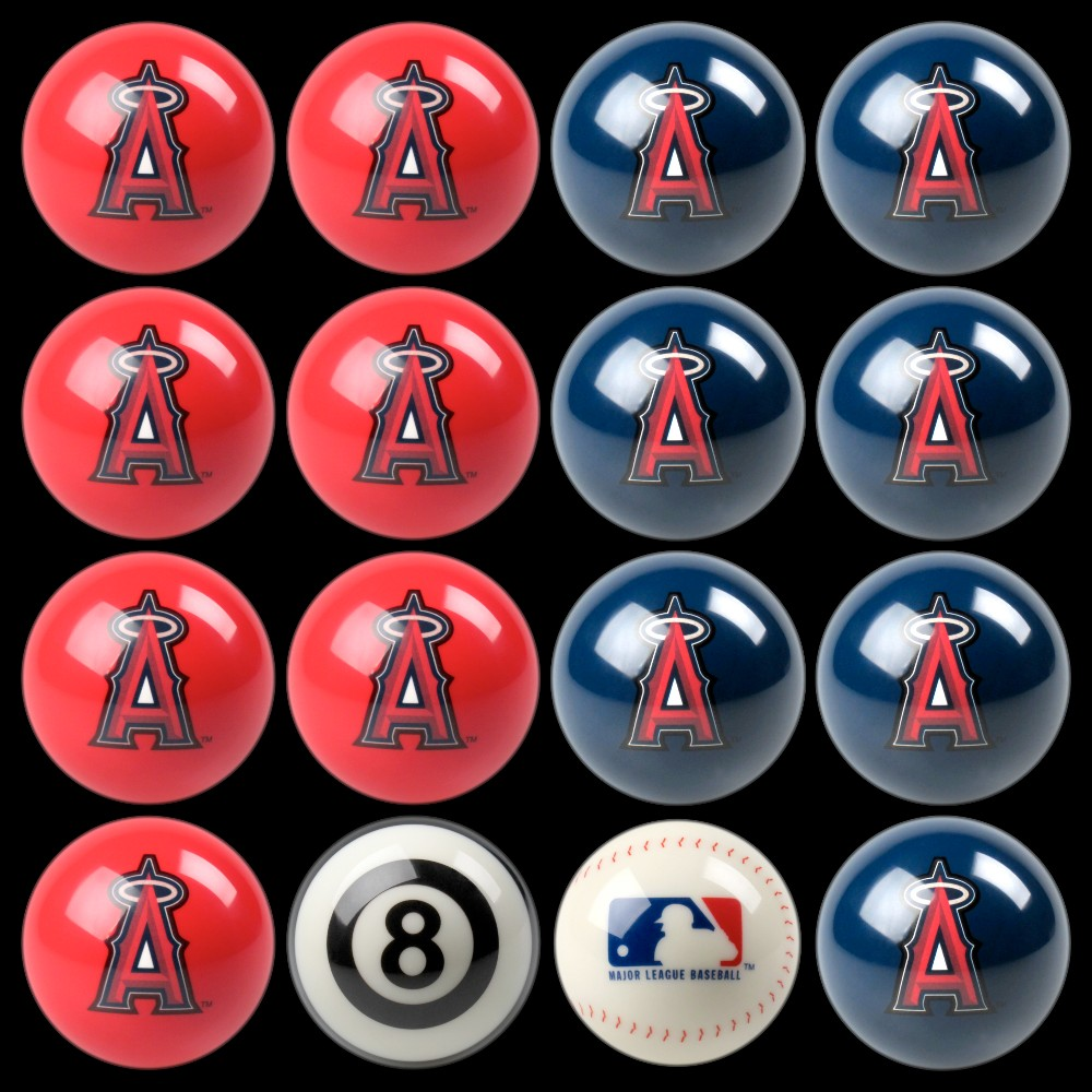 Los Angeles Angels Imperial Home vs. Away Billiards Ball Set