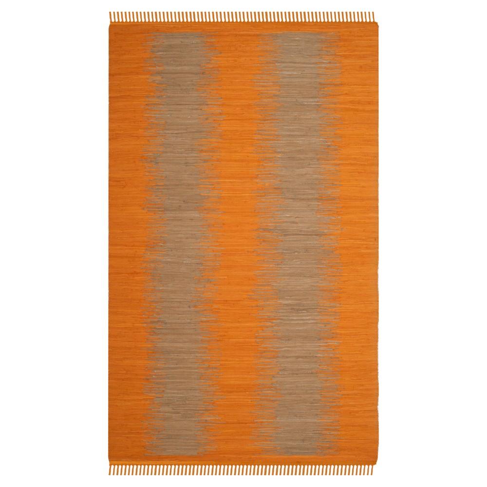 Orange Geometric Flatweave Woven Area Rug 5 X8 Safavieh
