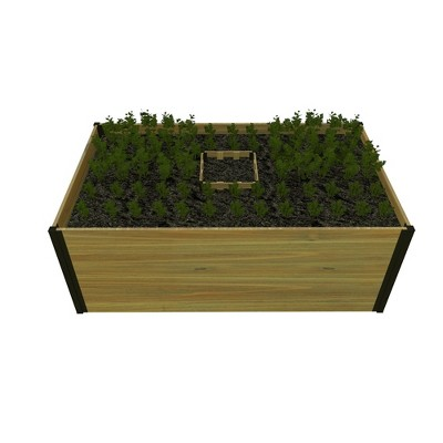 3'x5' Mezza Keyhole Rectangular Garden Bed Planter - Vita