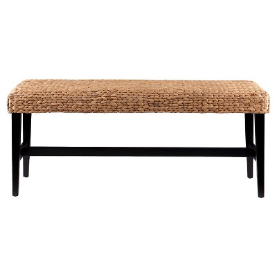 Water Hyacinth Bench - Black/Natural - Aiden Lane