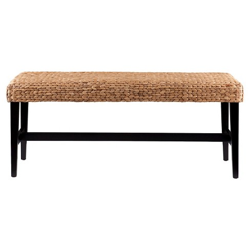 Stupendous Water Hyacinth Bench Black Natural Aiden Lane Pdpeps Interior Chair Design Pdpepsorg