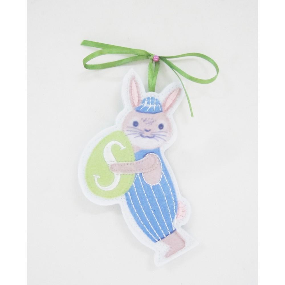 Blue Bunny Easter Basket Charm S - Spritz