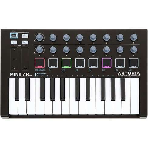 Arturia MiniLab MkII Keyboard Controller and Software Bundle Limited Black  Edition