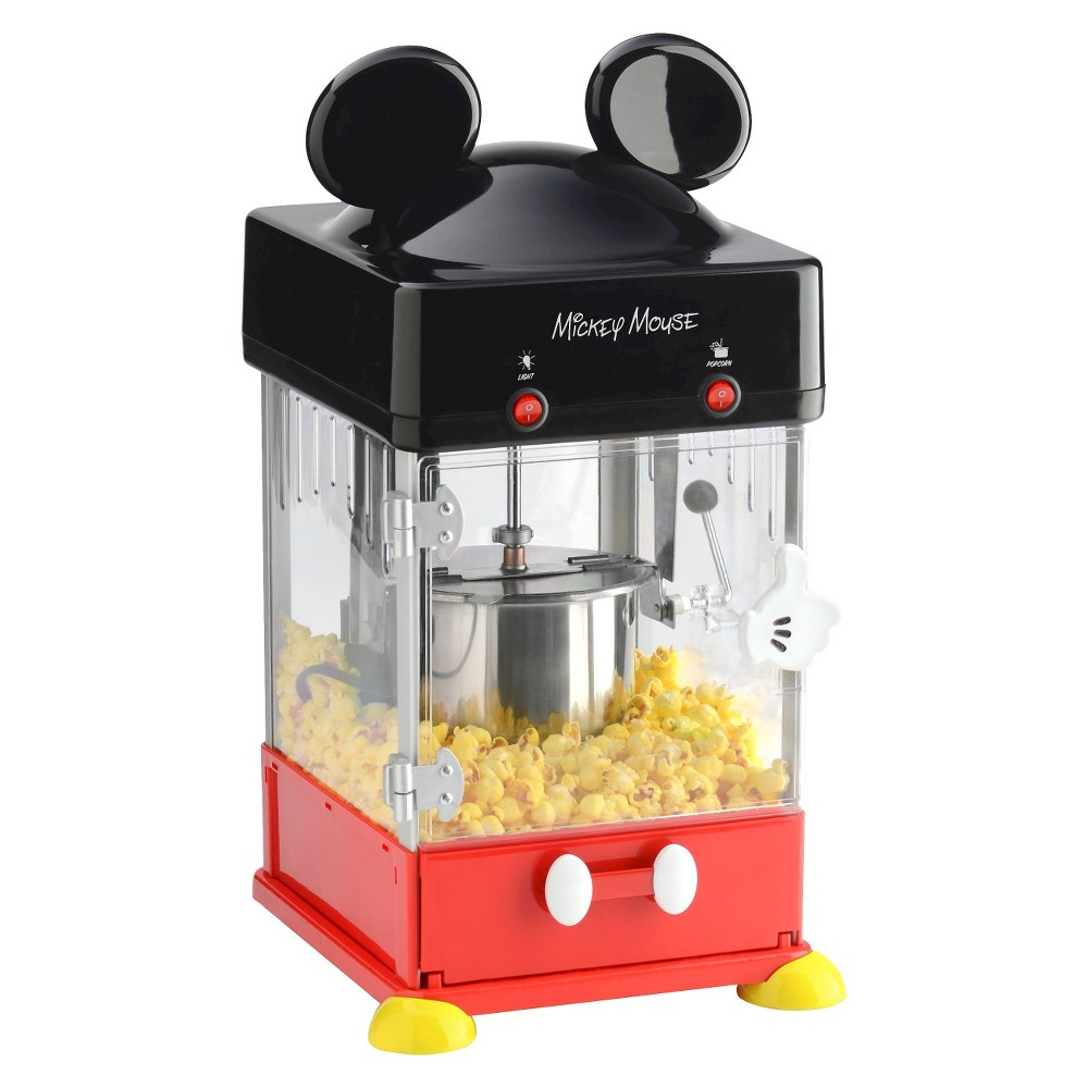 Disney Classic Mickey Kettle Popcorn Maker, Black/Red This Classic Mickey Mouse Kettle Popcorn maker will let you enjoy fresh and hot popcorn anytime. The fun design will look great in any room of your home. Color: Black/Red.