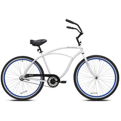 """Kent Men's Kiawah 26"""" Cruiser Bike - White"""