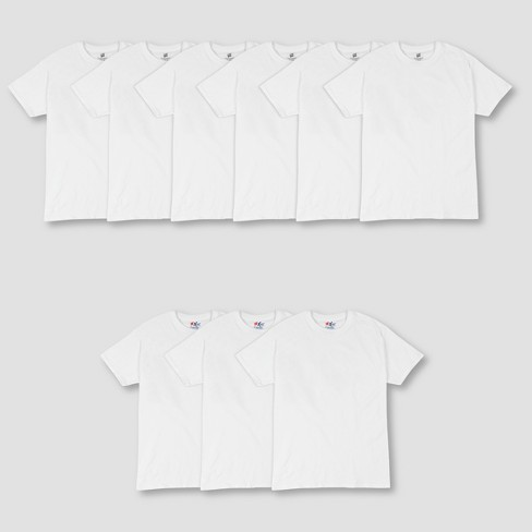Hanes Men's P6 Comfort Soft Crew T-Shirt + 3 FREE XTEMP Crew Shirt - White - image 1 of 2