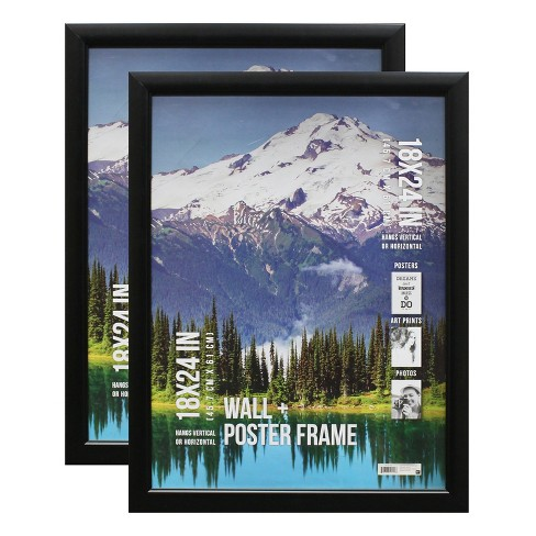 "2pc 18"" x 24"" Poster Frame Profile Black - B.P. Industries - image 1 of 4"