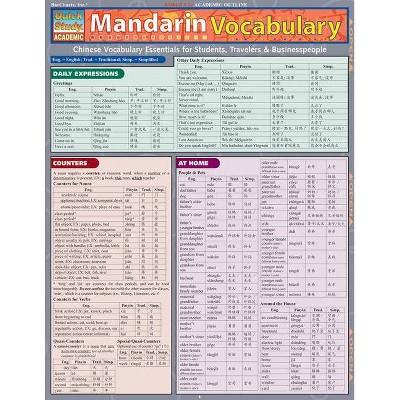 Mandarin Vocabulary - (Quickstudy: Academic) by  Lung-Hua Gail Hu (Poster)