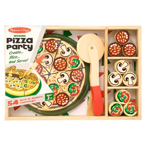Melissa Doug Pizza Party Wooden Play Food Target